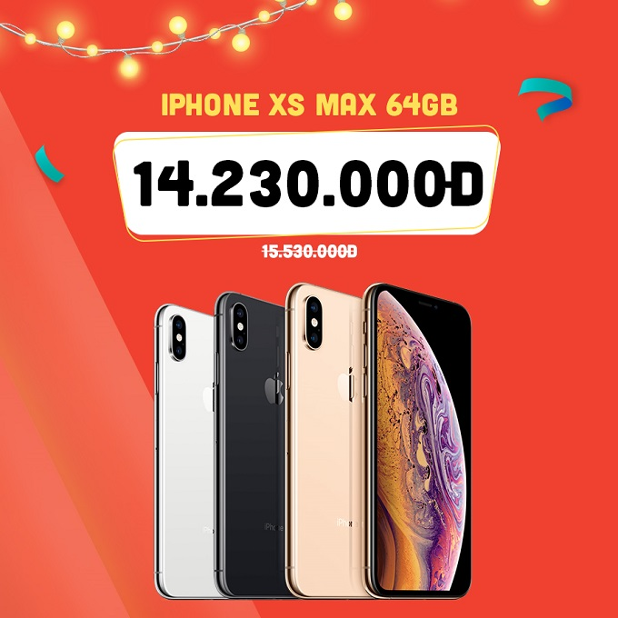 iPhone Xs Max 64GB ưu đãi đến 2.000.000đ