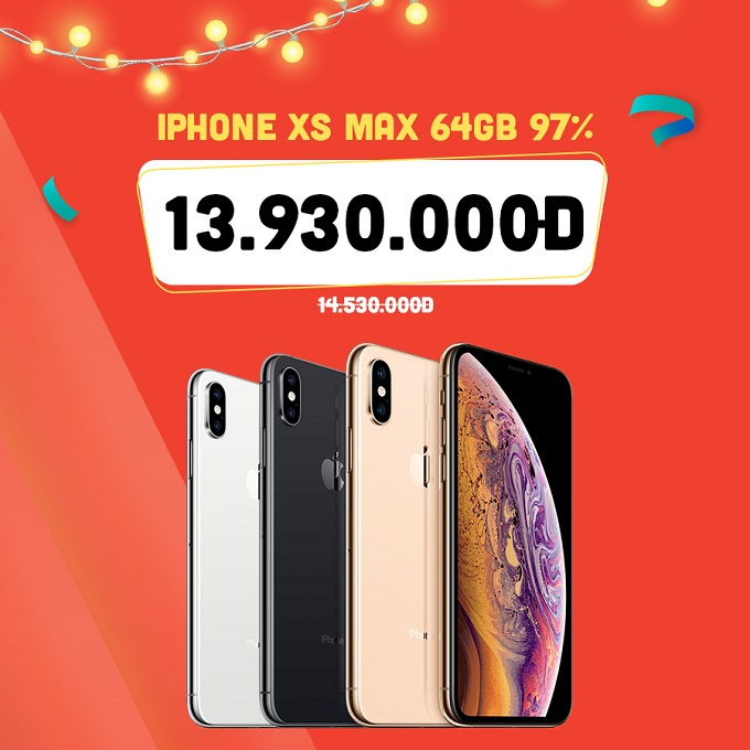 iPhone Xs Max 64GB 97% ưu đãi đến 1.300.000đ