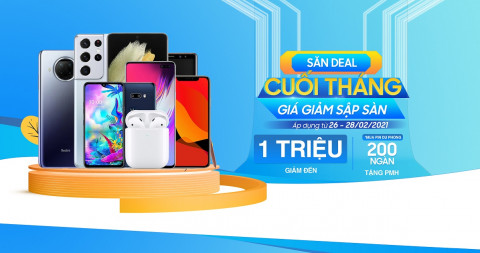 Săn deal cuối tháng - Giá giảm sập sàn: Galaxy S21 Ultra giảm đến 1 triệu đồng