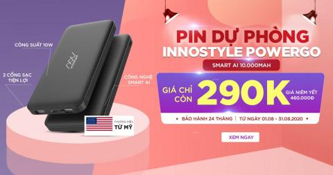 Tháng 8 deal tốt - Phụ kiện giá chất: Pin dự phòng Innostyle Powergo Smart AI giảm đến 37%