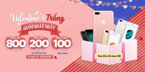 Valentine trắng - iPhone 7 Plus ưu đãi đến 850K tại XTmobile