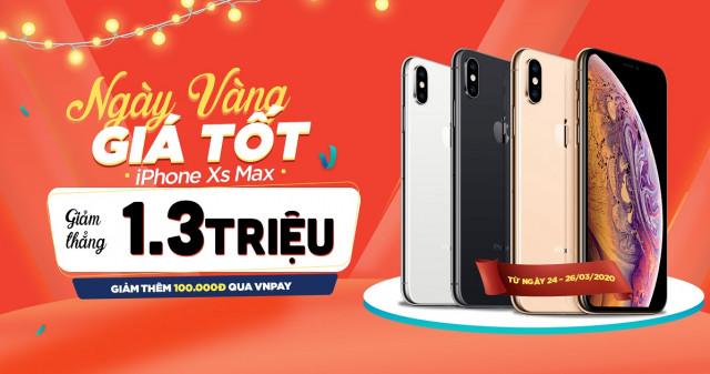 Ngày vàng giá tốt: iPhone Xs Max giảm thẳng 1,3 triệu tại XTmobile