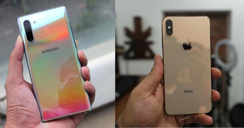Galaxy Note 10, iPhone Xs so kè: Smartphone nhỏ gọn nào hấp dẫn hơn?