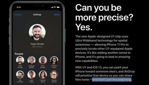Apple lặng lẽ giới thiệu chip U1 mà màn ra mắt iPhone 11 bị thiếu