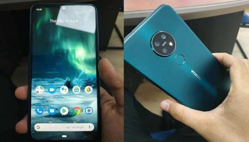 Nokia 7.2 lộ ảnh thực tế: Màn hình giọt nước và 3 camera hình tròn