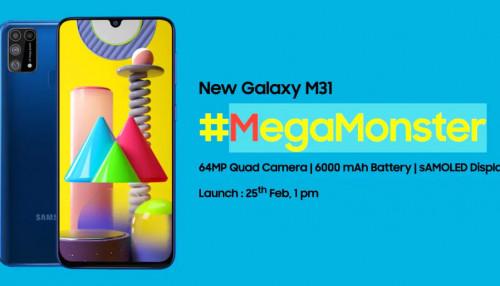 Samsung Galaxy M31 ra mắt với viên pin 6000mAh, camera 64MP