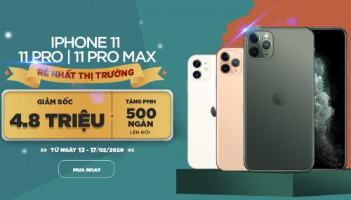 Tháng giêng tài lộc mua iPhone 11 Pro Max với giá giảm đến 4,9 triệu