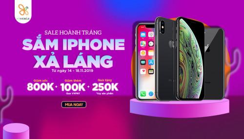 Sale hoành tráng - Sắm iPhone xả láng : iPhone X 13,3 triệu còn thêm quà