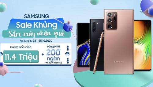 Samsung Sale khủng - Sắm máy nhận quà: Galaxy Note 20 Ultra giảm sốc đến 11,4 triệu đồng