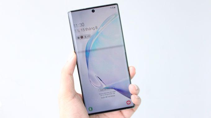 cấu hình Galaxy Note 10 Plus 256GB 2 sim được cung cấp sức mạnh từ chip xử lý Snapdragon 855