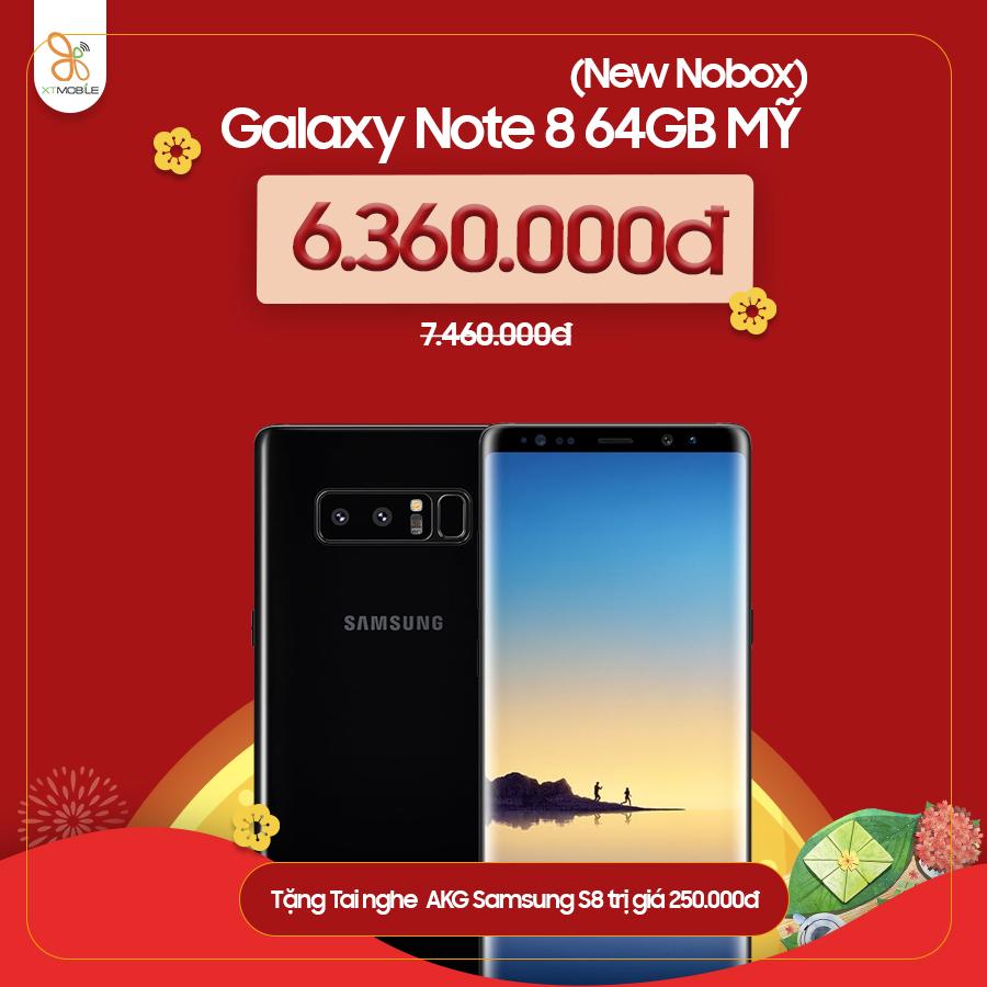 Galaxy Note 8 giảm đến 1.2 triệu đồng + Quà 250.000đ