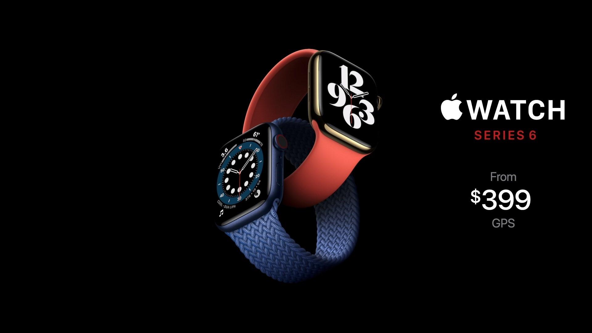 Apple Watch series 6 ra mắt giá khởi điểm 399 USD