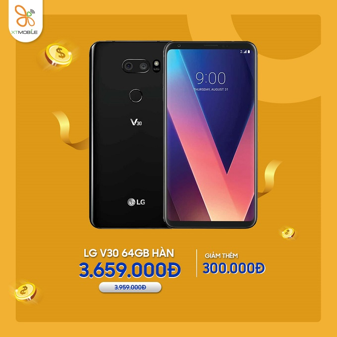LG V30 64GB Hàn cũ giảm thêm 300K tại XTmobile