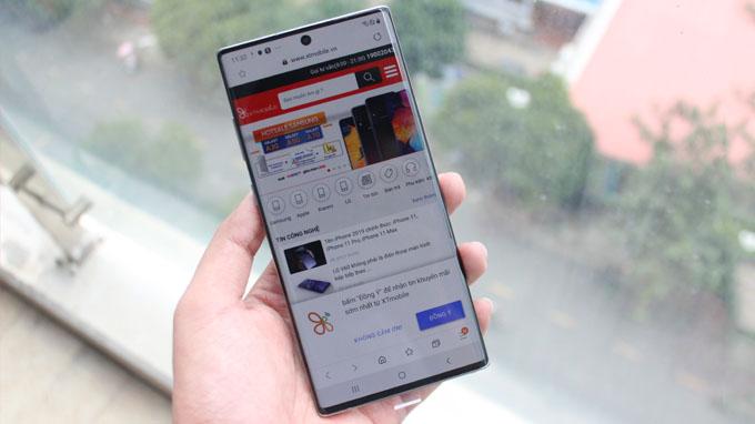 Samsung Note 10 Plus 256GB Hong Kong cũng được trang bị màn hình 6.8 inch