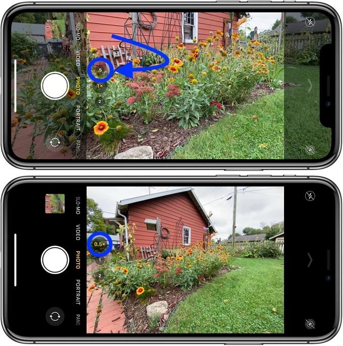 Cách sử dụng ống kính góc siêu rộng trên iPhone 11 mới