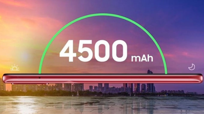 Máy sở hữu viên pin khổng lồ lên đến 45.00 mAh