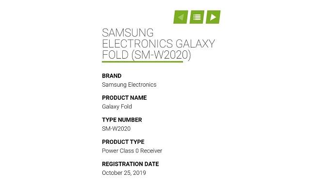 Samsung W20 có mã model gợi nhớ đến Galaxy Fold
