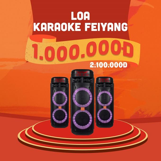 Loa Karaoke Feiyang giảm thêm đến 1.100.000đ chỉ còn 1.000.000đ ( giá niêm yết 2.100.000đ).