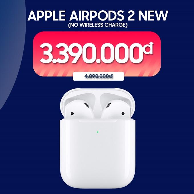 Tai nghe Bluetooth Apple AirPods 2 (No Wireless Charge) ưu đãi đến 800.000đ