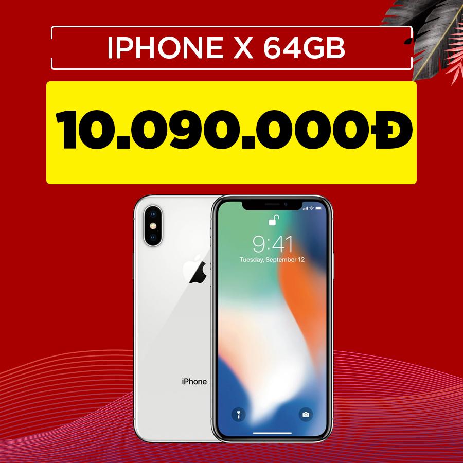 iPhone X 64GB cũ Quốc tế giảm thêm 900.000đ