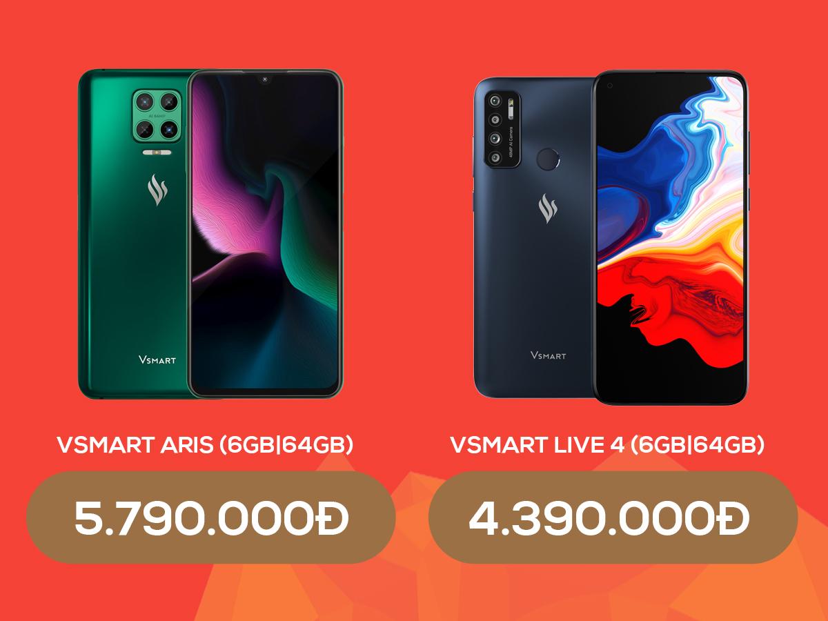 Điện thoại Vsmart giảm đến 1,7 triệu