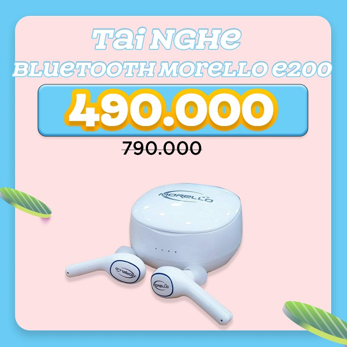 Tai nghe không dây Morello E200 giảm 37%