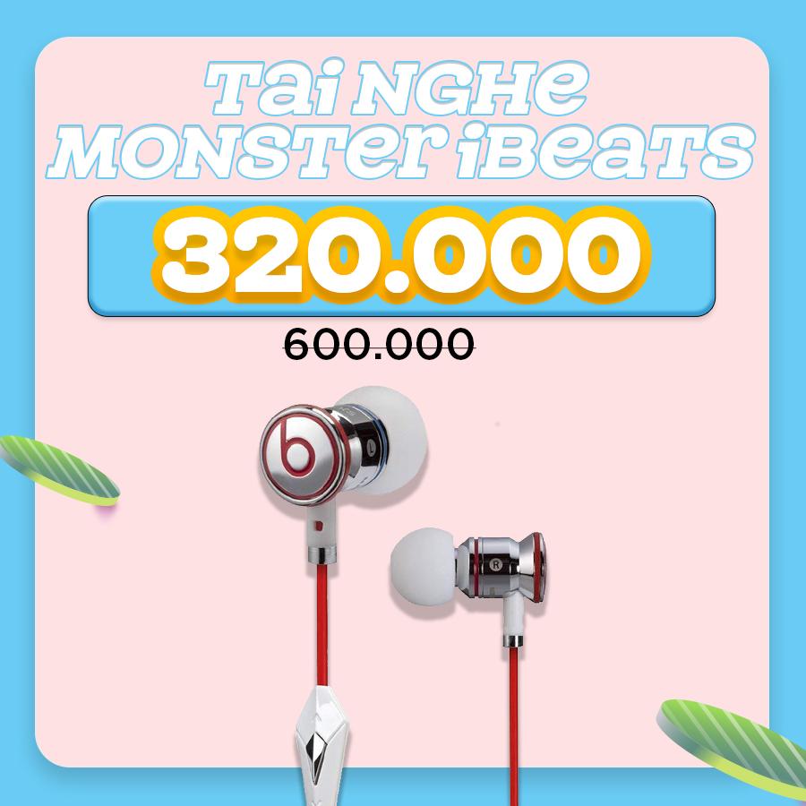 Tai nghe Monster iBeats giảm thêm đến 46%