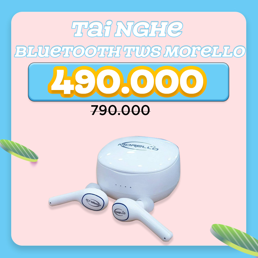 Tai nghe Bluetooth TWS Morello E200 giảm thêm đến 37%
