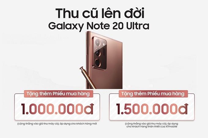 Thu cũ lên đời Galaxy Note 20 Ultra tặng PMH 1,5 triệu