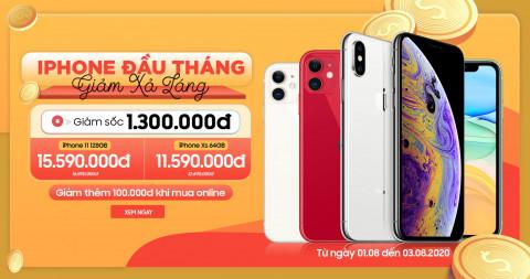 Mua iPhone đầu tháng - Giảm xả láng: iPhone Xs , iPhone 11 giảm đến 1.3 triệu đồng