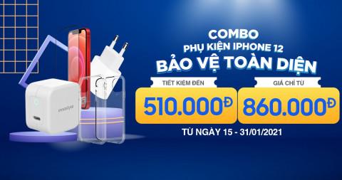 Ưu đãi sốc: Mua combo phụ kiện bảo vệ iPhone 12 toàn diện, tiết kiệm đến 510K