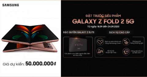Đặt trước Galaxy Z Fold 2 5G được hưởng hàng loạt dịch vụ, đặc quyền thượng lưu