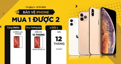 Tháng vàng dịch vụ: Mua iPhone tặng thêm cường lực, bảo hành 1 đổi 1 đến 12 tháng