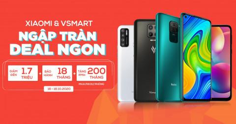 Deal cuối tuần: Điện thoại Vsmart, Xiaomi giảm đến 1,7 triệu, bảo hành 18 tháng chính hãng, tặng thêm PMH 200 ngàn