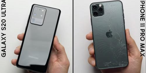 Test độ bền Galaxy S20 Ultra và iPhone 11 Pro Max:  Flagship nào chiến thắng?