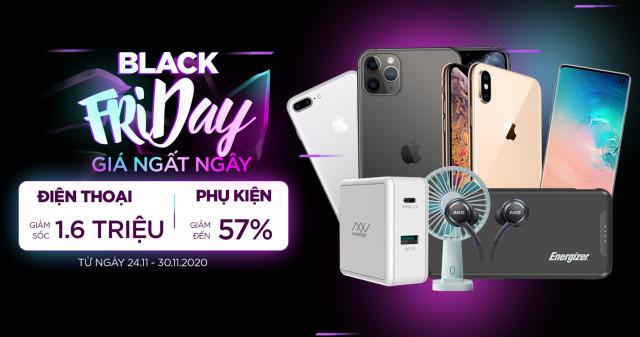 Black Friday - Giá ngất ngây: Mua iPhone, Android đồng loạt giảm đến 1.6 triệu, phụ kiện giảm đến 57%