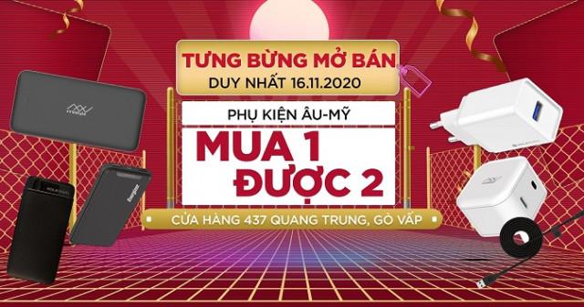 Mở bán cửa hàng 437 Quang Trung, Gò Vấp: Phụ kiện Energizer, Innostyle, Umetravel - Mua 1 được 2