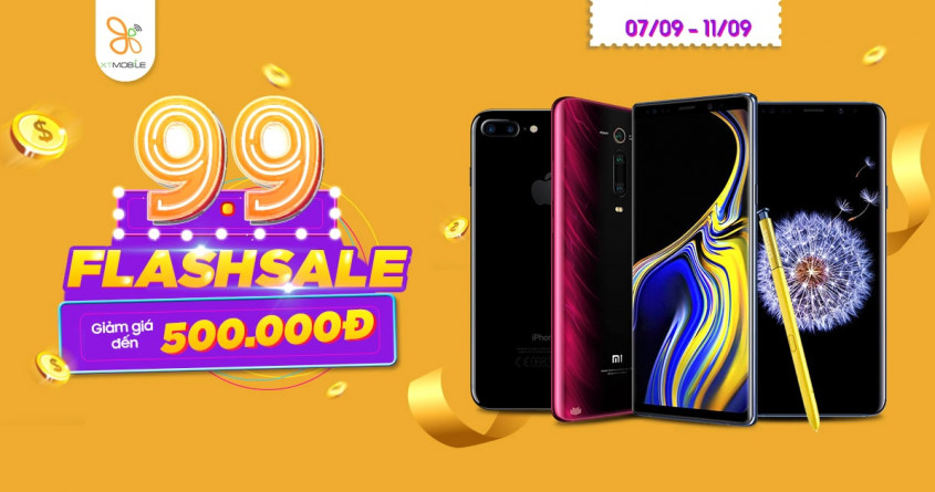 Flash Sale 9/9: Galaxy Note 9, iPhone 7 Plus, LG V30 giảm đến 500K