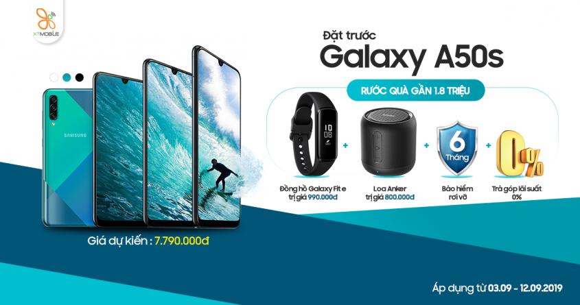 Đặt trước Galaxy A50s - Nhận ngay bộ quà tặng đến 1,8 triệu