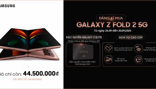 Mua Galaxy Z Fold 2 5G giá rẻ hơn đến 5.5 triệu, hưởng trọn các dịch vụ cao cấp và đặc quyền Galaxy Z Elite