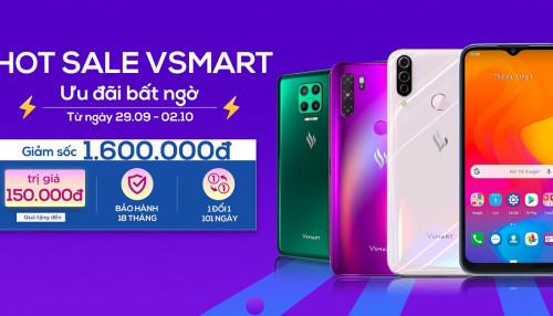 Hot Sale Vsmart: Mua điện thoại thương hiệu Việt nhận ngay ưu đãi gần 2 triệu, mua là có quà