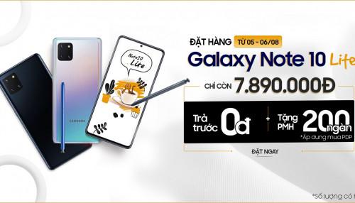 Giá Galaxy Note 10 Lite 128GB giảm sốc chỉ còn 7,8 triệu đón chào dòng Galaxy Note 20 ra mắt