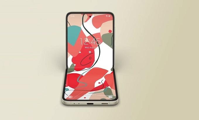 Mặt trước Galaxy Z Flip3 5G được trang bị màn hình chính hỗ trợ độ phân giải 2,640 x 1,080 pixel