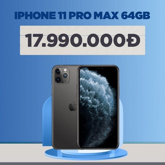 iPhone 11 Pro Max 64GB cũ giảm thêm 2.700.000đ