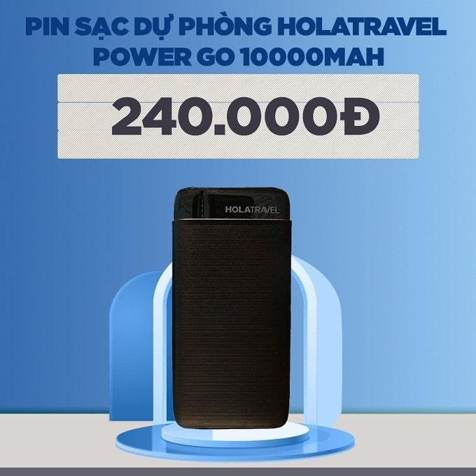 Pin sạc dự phòng HoLaTravel Power Go 10000mAh giảm thêm 51%