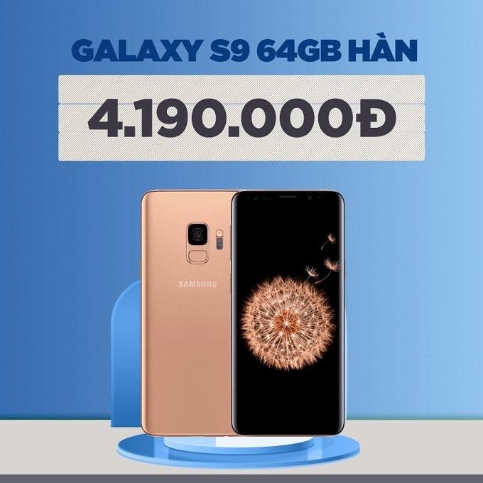 Galaxy S9 64GB Hàn cũ giảm thêm 1.300.000đ
