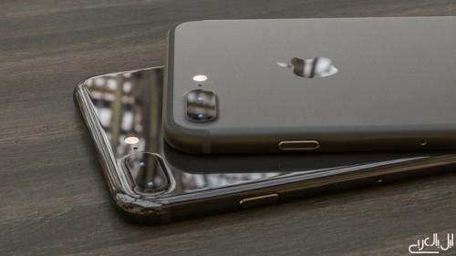 Ảnh dựng điện thoại iPhone 7 phiên bản màu đen kiểu mới