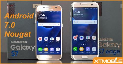 Android 7.0 Nougat sẽ mang giao diện Grace UX lên Galaxy S7 và Galaxy S7 Edge.