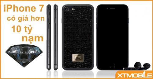 """Gresso """"khoe"""" iPhone 7 nạm kim cương đen sang trọng"""