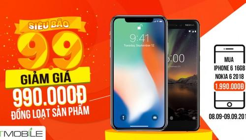 Siêu Bão: Giảm thêm 999K đồng loạt các sản phẩm - Mua iPhone 6 giá chỉ 1.990.000đ
